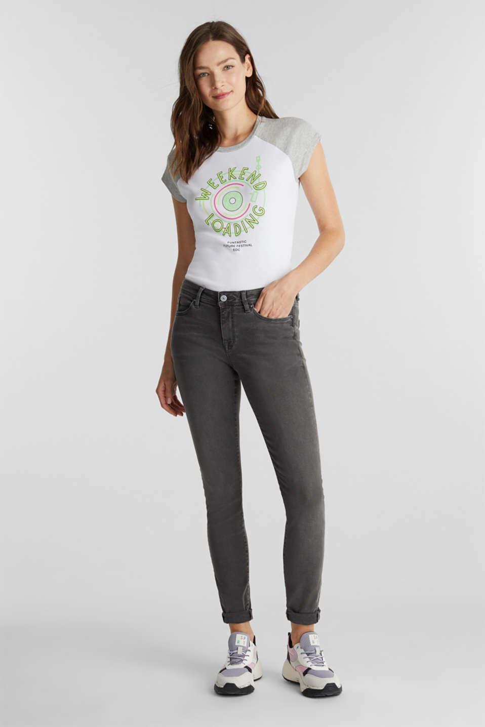Print T-shirt, 100% organic cotton, WHITE, detail image number 1