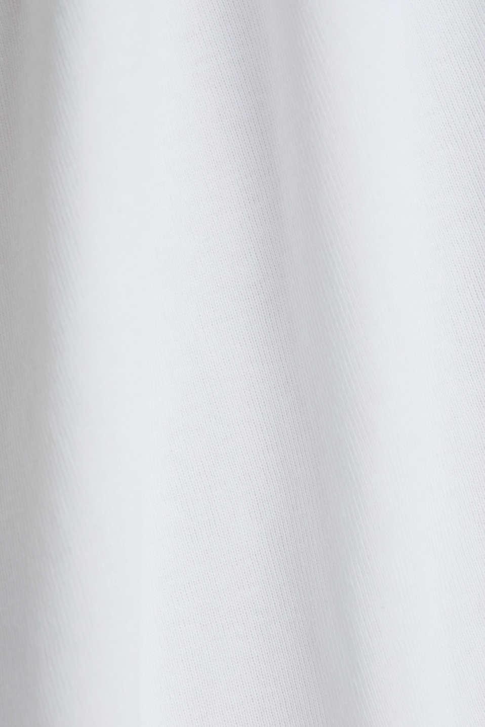 Print T-shirt, 100% organic cotton, WHITE, detail image number 4