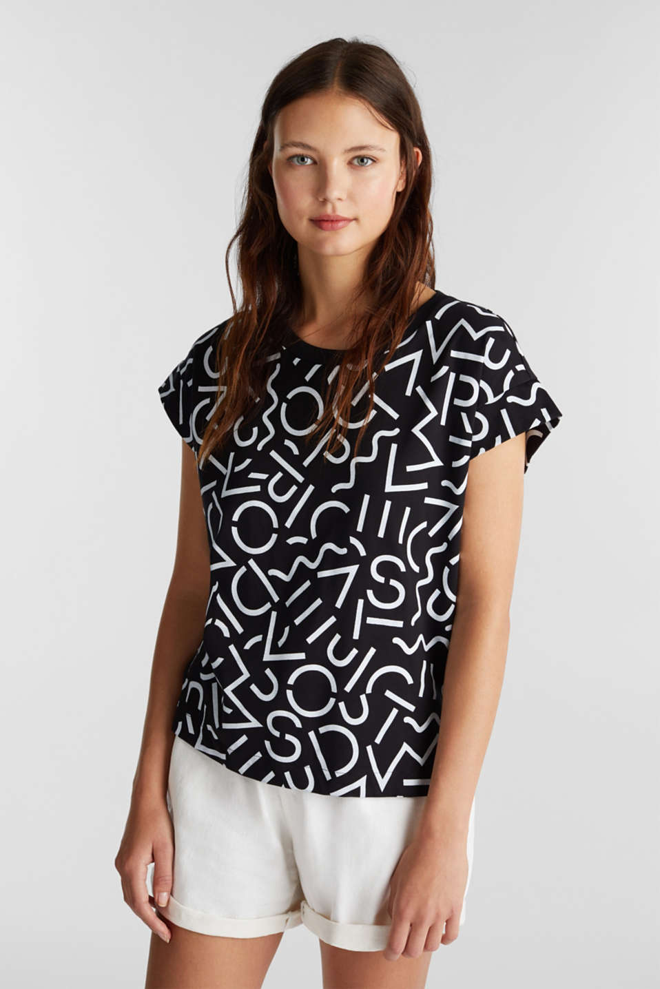 edc - Top with a monogram print
