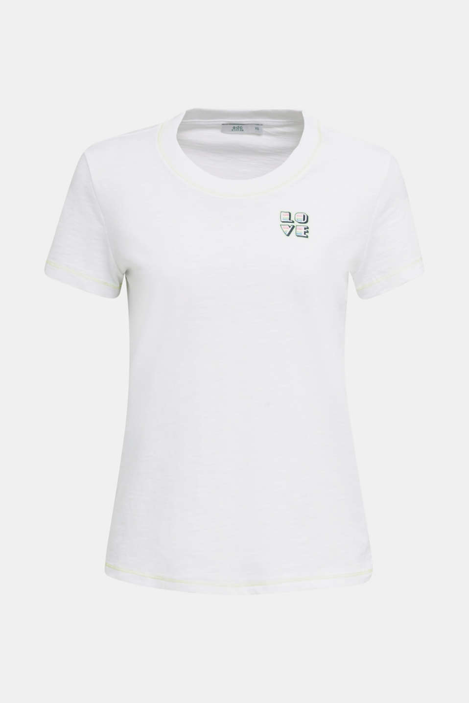 Slub top with organic cotton, WHITE, detail image number 4