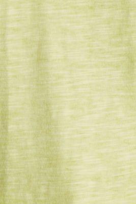 Slub top with organic cotton, LIME YELLOW, detail