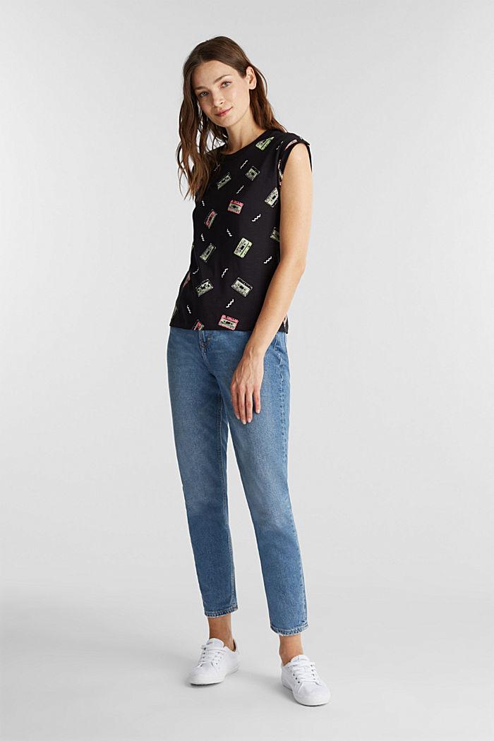 Print-Shirt mit Organic Cotton, BLACK, detail image number 1