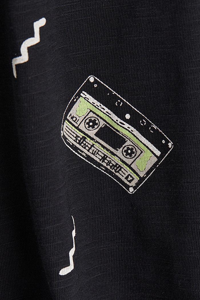Print-Shirt mit Organic Cotton, BLACK, detail image number 4