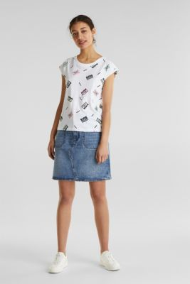 Print t-shirt with organic cotton, WHITE, detail
