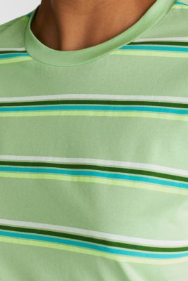 Striped top, 100% organic cotton, LIGHT GREEN, detail