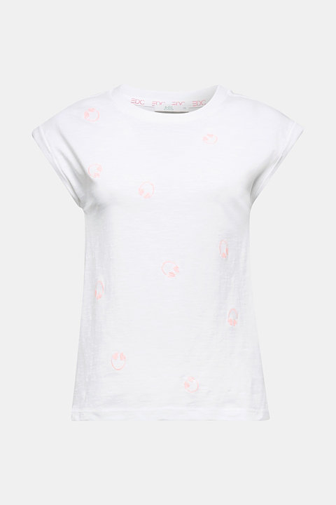 Embroidered top, organic cotton