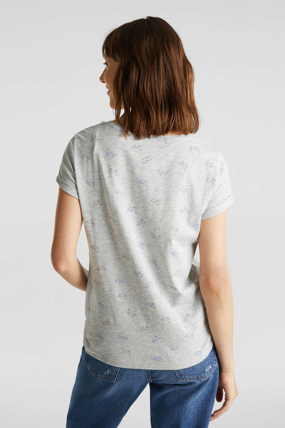 Organic stretch cotton top, LIGHT GREY 5, detail image number 3