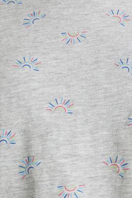 Organic stretch cotton top, LIGHT GREY 5, detail