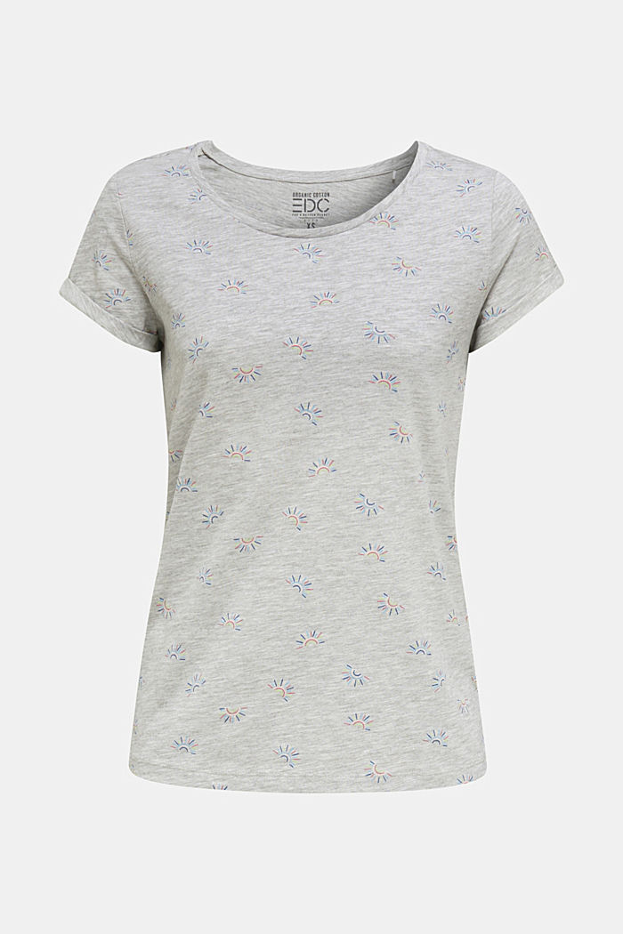 Organic stretch cotton top, LIGHT GREY, detail image number 6