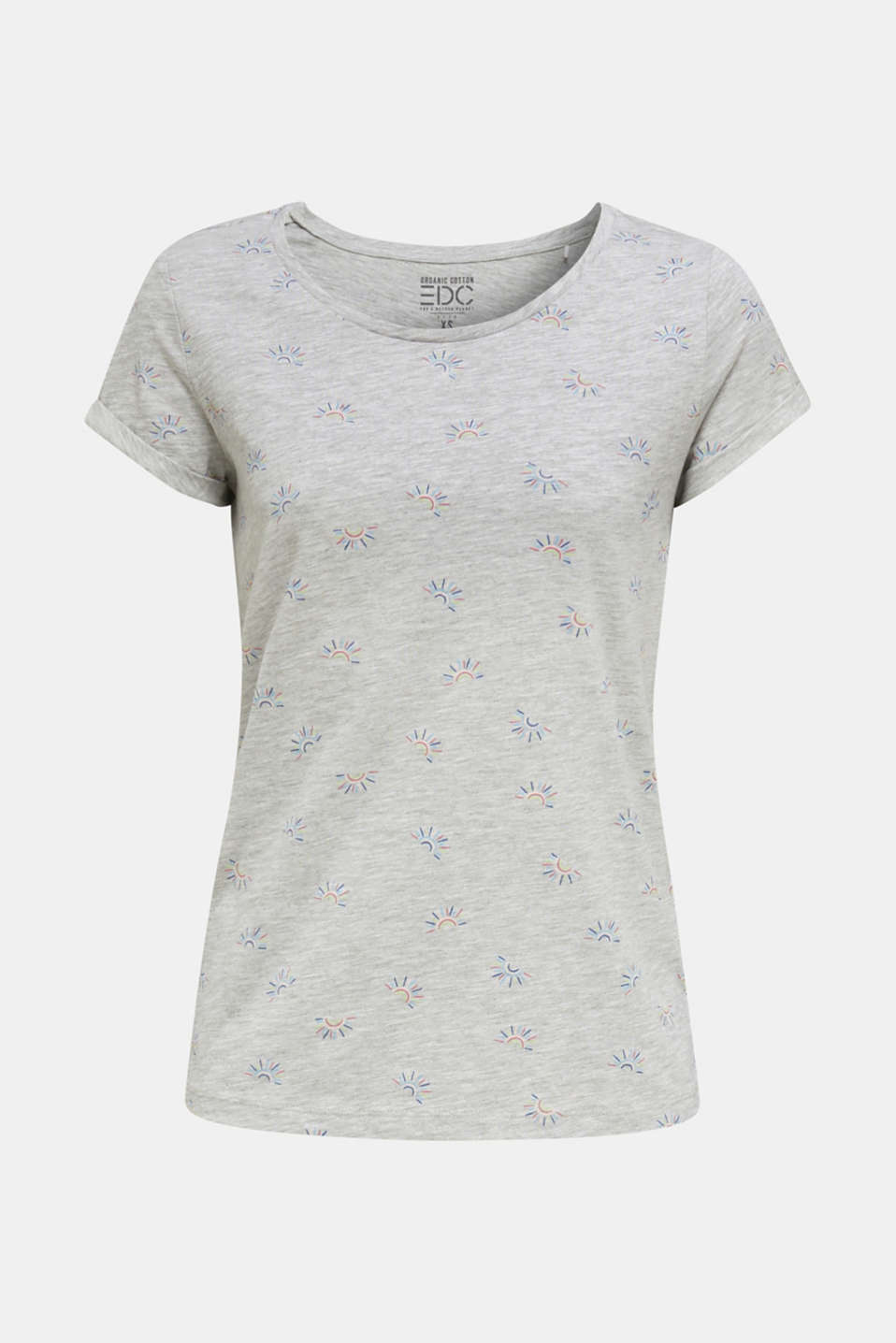 Organic stretch cotton top, LIGHT GREY 5, detail image number 6