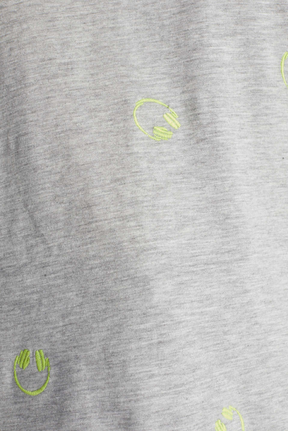 Trendy top, organic cotton, LIGHT GREY 5, detail image number 4