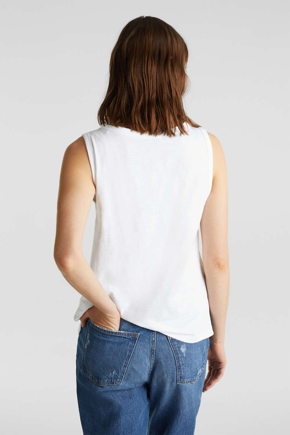 Print top, 100% organic cotton, WHITE, detail image number 3