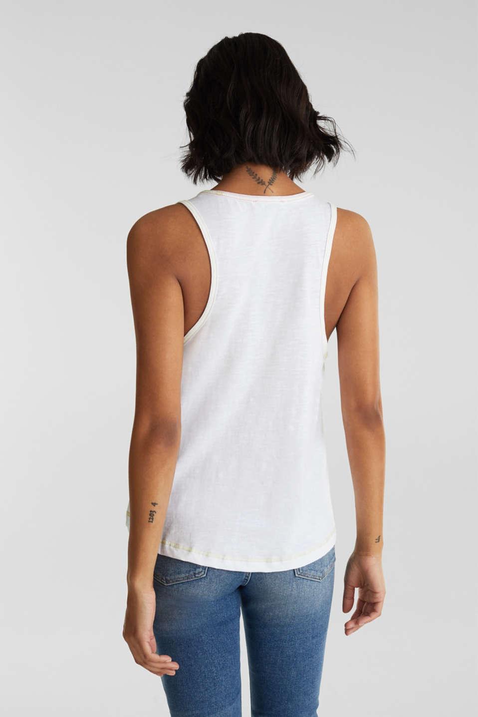 Slub top, 100% organic cotton, WHITE, detail image number 3