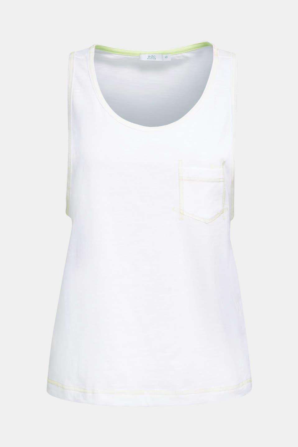 Slub top, 100% organic cotton, WHITE, detail image number 5