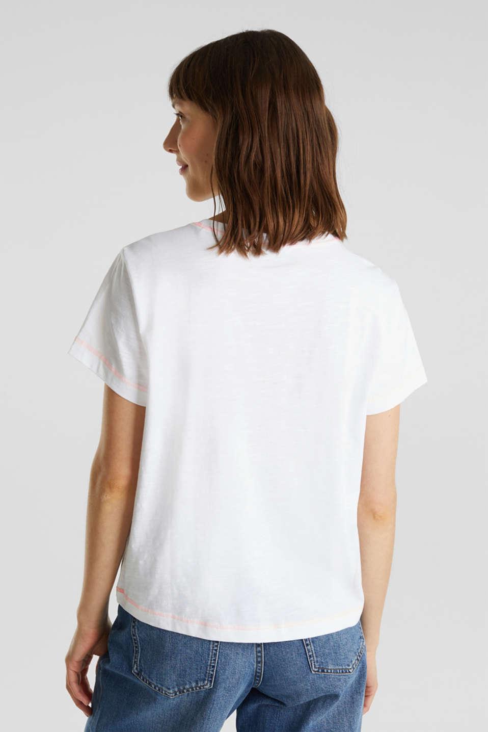T-shirt, 100% organic cotton, WHITE, detail image number 3