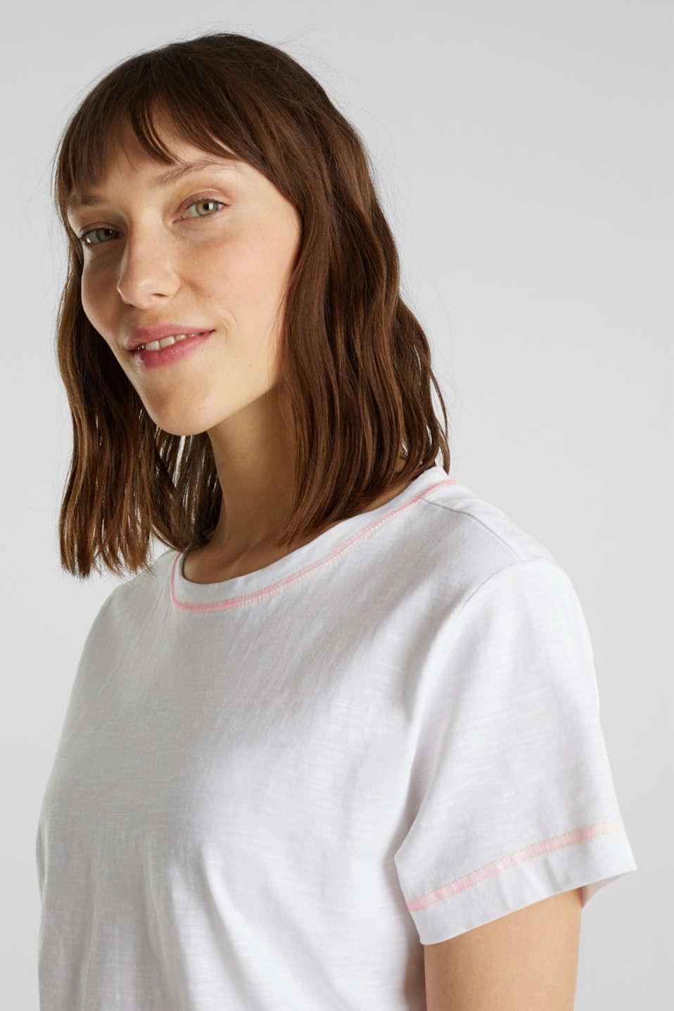 T-shirt, 100% organic cotton, WHITE, detail image number 6