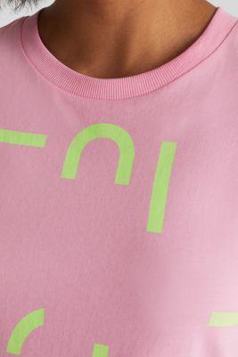 Logo top, 100% organic cotton, PINK, detail