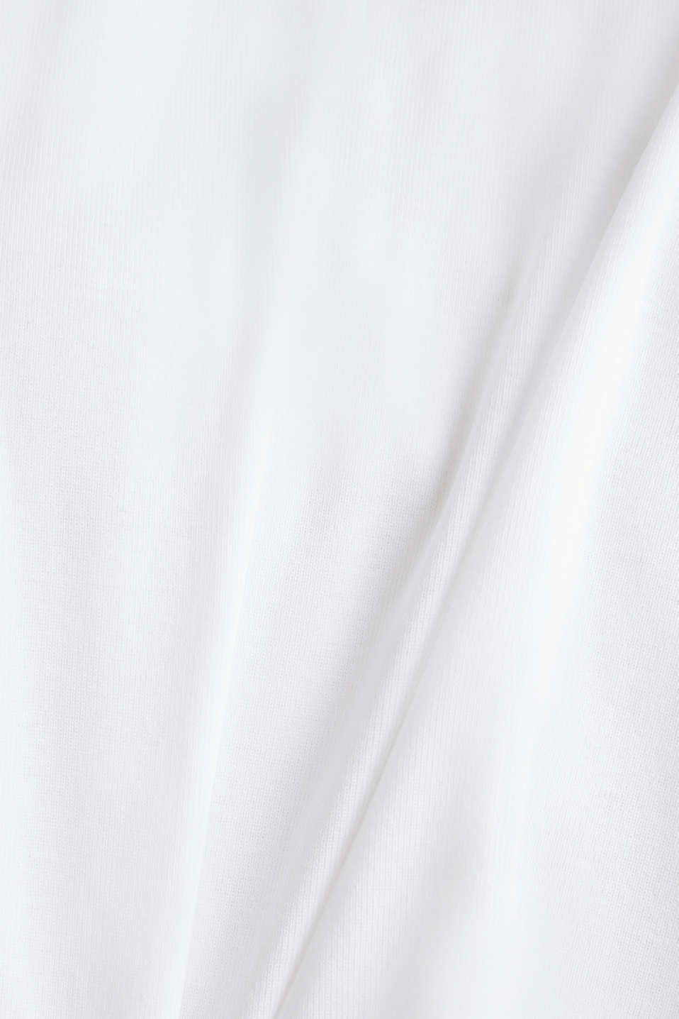 Band collar top in 100% cotton, WHITE, detail image number 2