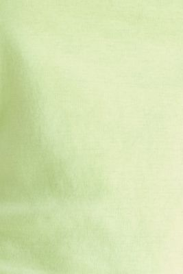 Band collar top in 100% cotton, LIME YELLOW 3, detail