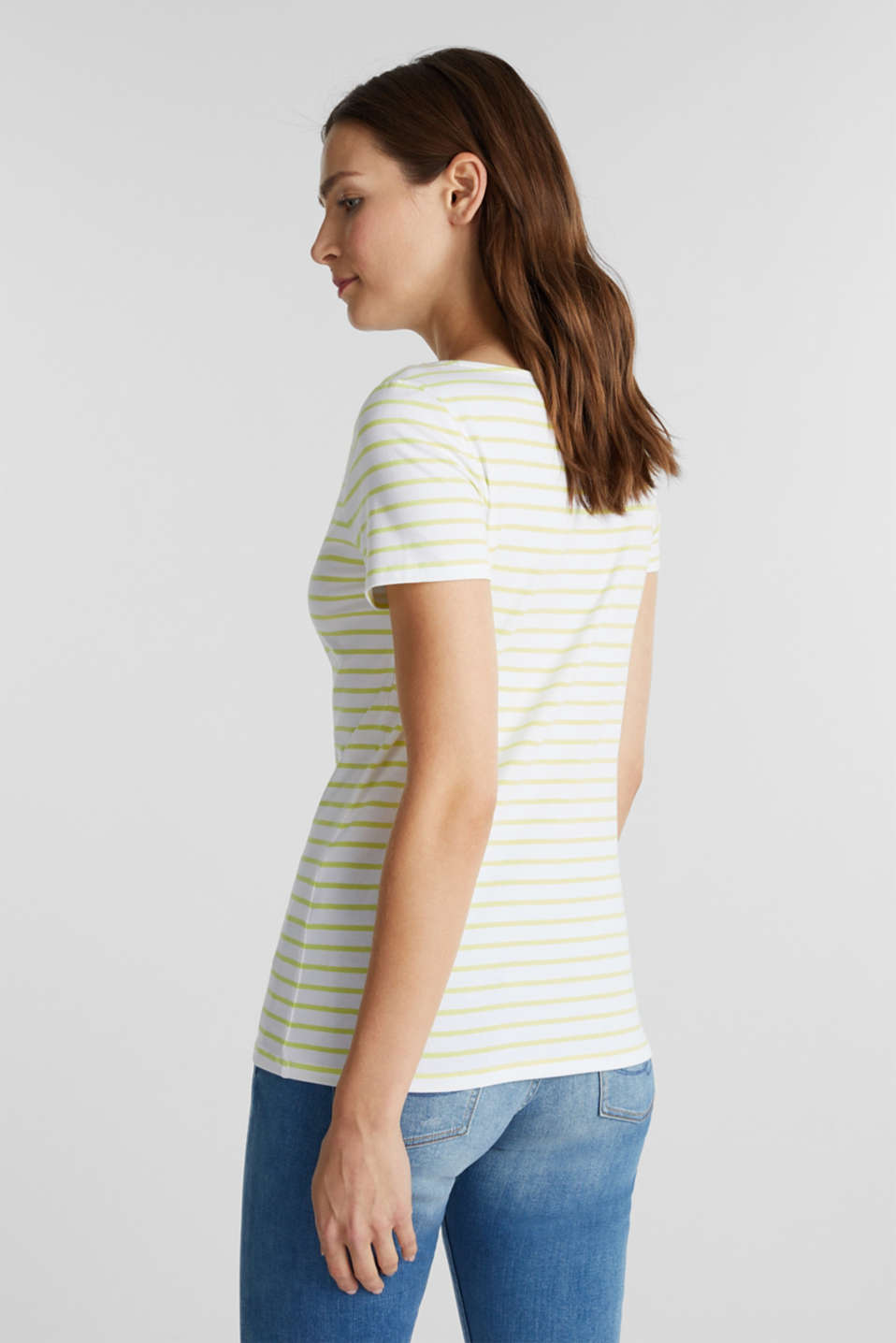 Organic cotton-jersey T-shirt, LIME YELLOW, detail image number 3