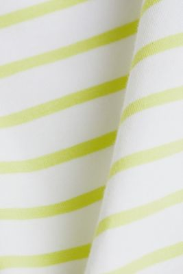 Organic cotton-jersey T-shirt, LIME YELLOW, detail