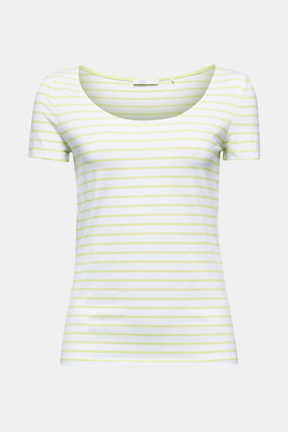 Organic cotton-jersey T-shirt, LIME YELLOW, detail image number 5