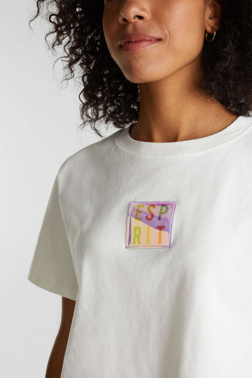 #throwback top, organic cotton, OFF WHITE, detail image number 2