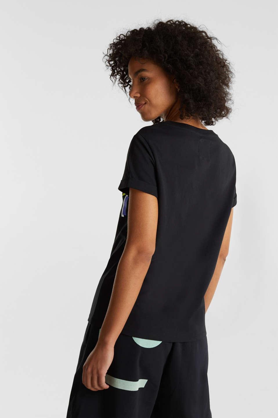 #throwback Logo T-shirt, 100% organic cotton, BLACK, detail image number 3