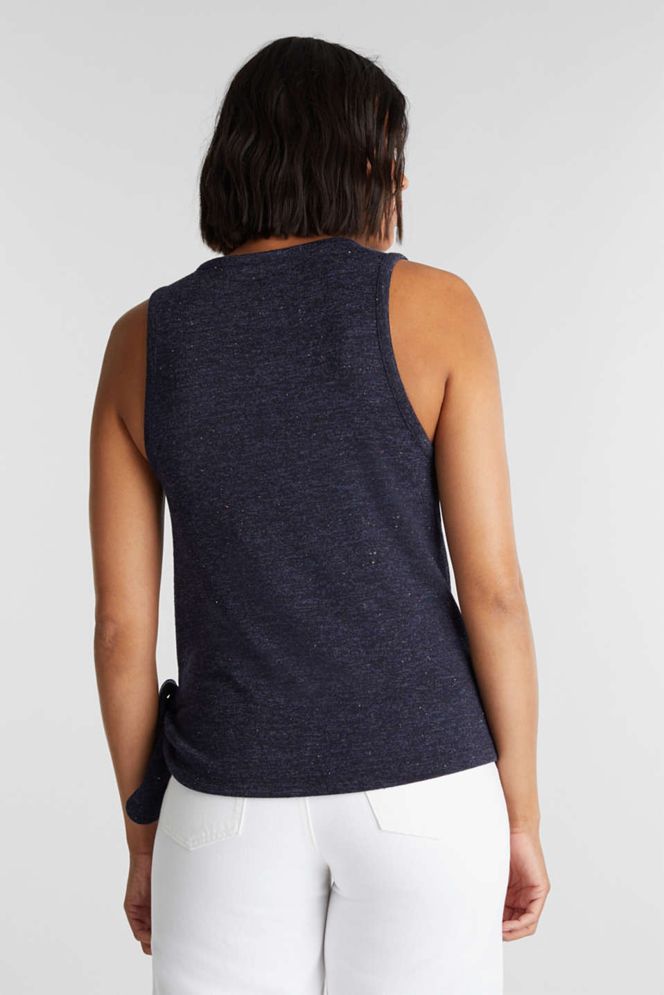 Sleeveless top with colourful dimples, NAVY, detail image number 3