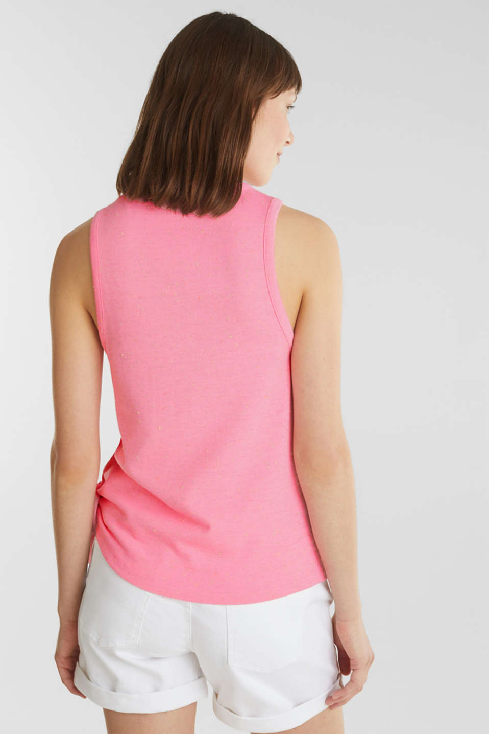 Jersey top with dimples, PINK, detail image number 3