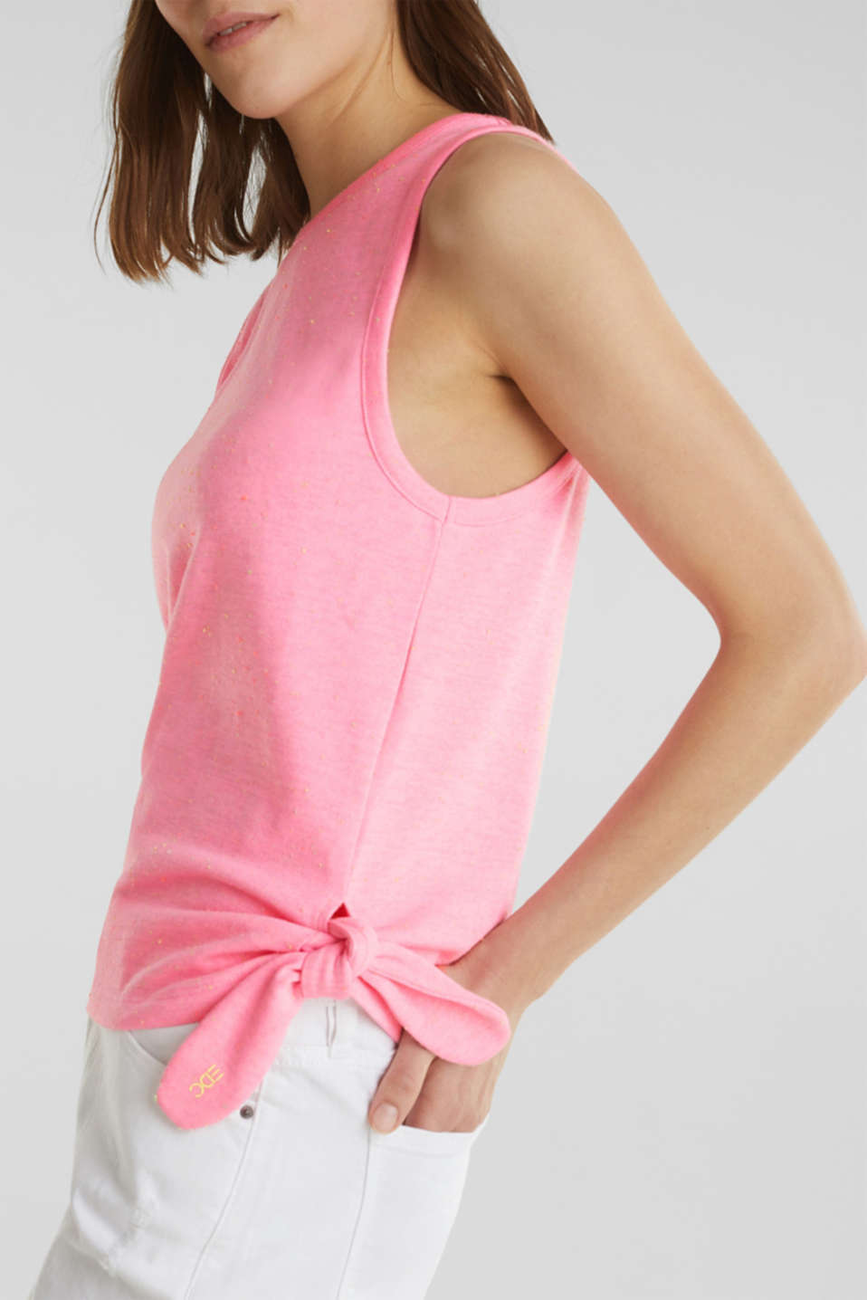 Jersey top with dimples, PINK, detail image number 2
