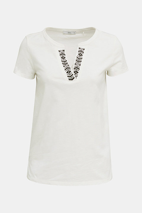 Embroidered T-shirt, 100% organic cotton