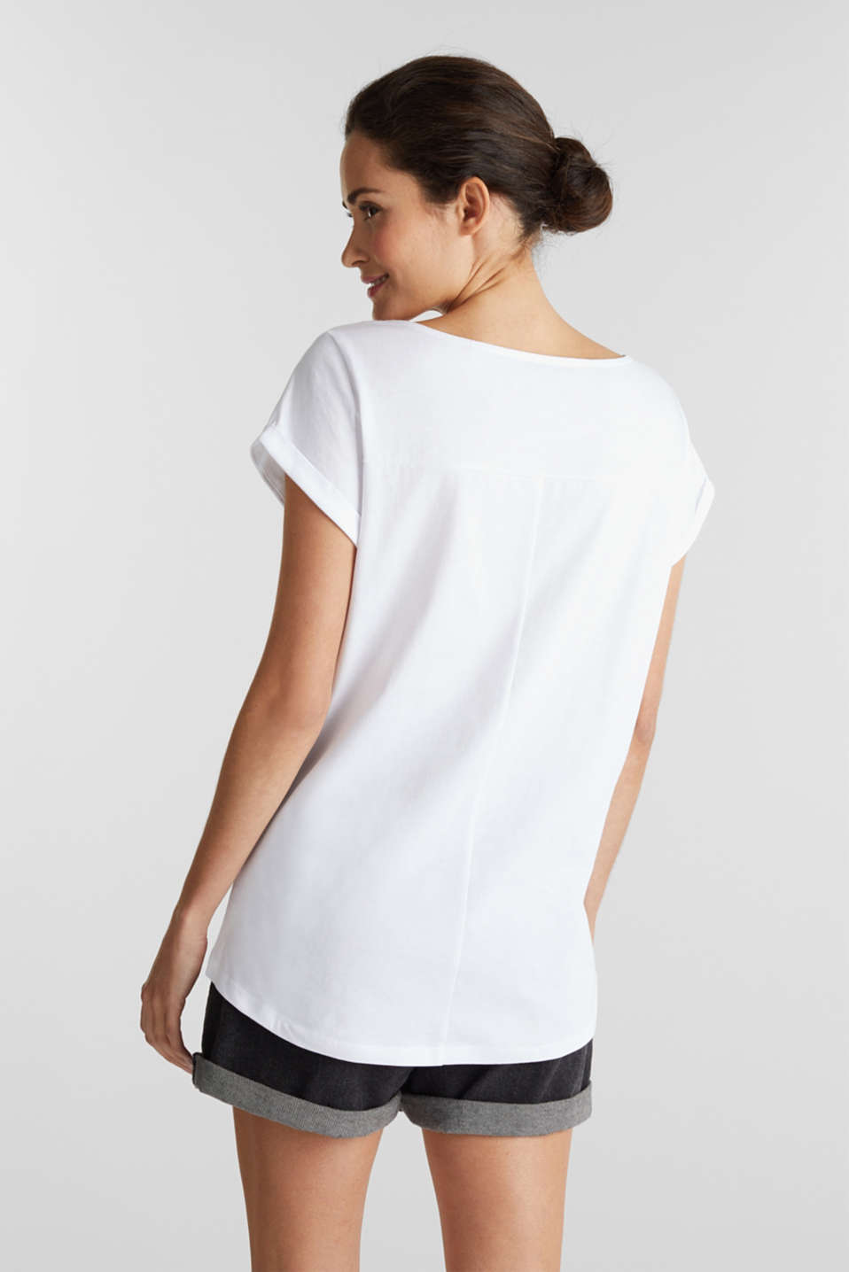 Top made of 100% organic cotton, WHITE, detail image number 3