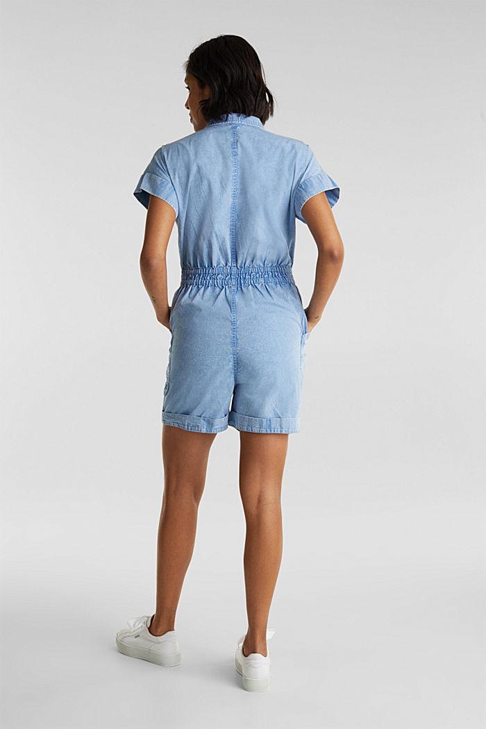 Jumpsuit, 100% biologisch katoen, LIGHT BLUE, detail image number 3