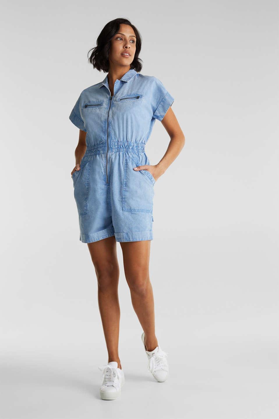 Jumpsuit, 100% organic cotton, LIGHT BLUE, detail image number 1