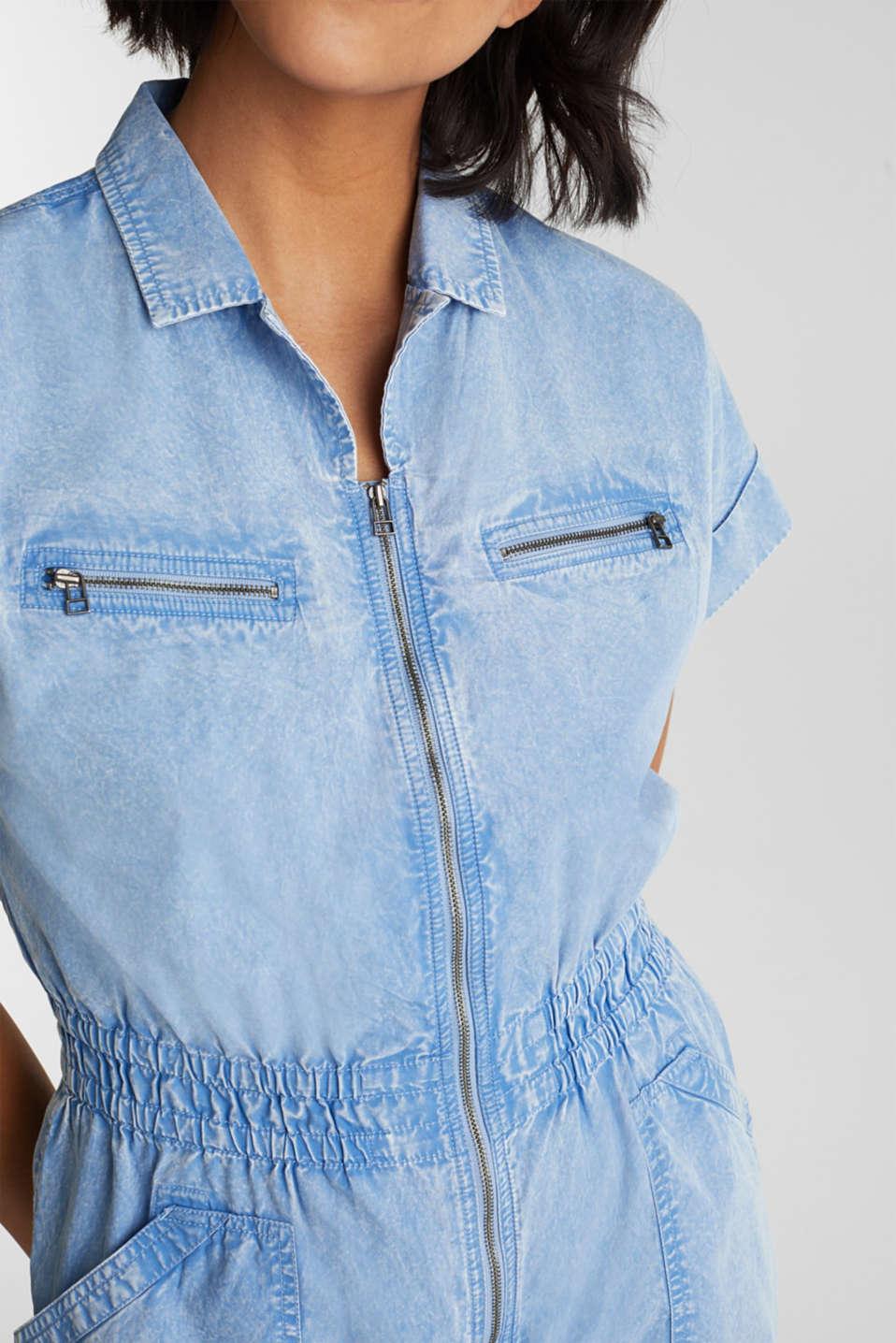 Jumpsuit, 100% organic cotton, LIGHT BLUE, detail image number 2