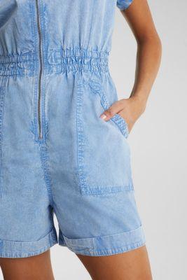 Jumpsuit, 100% organic cotton, LIGHT BLUE, detail