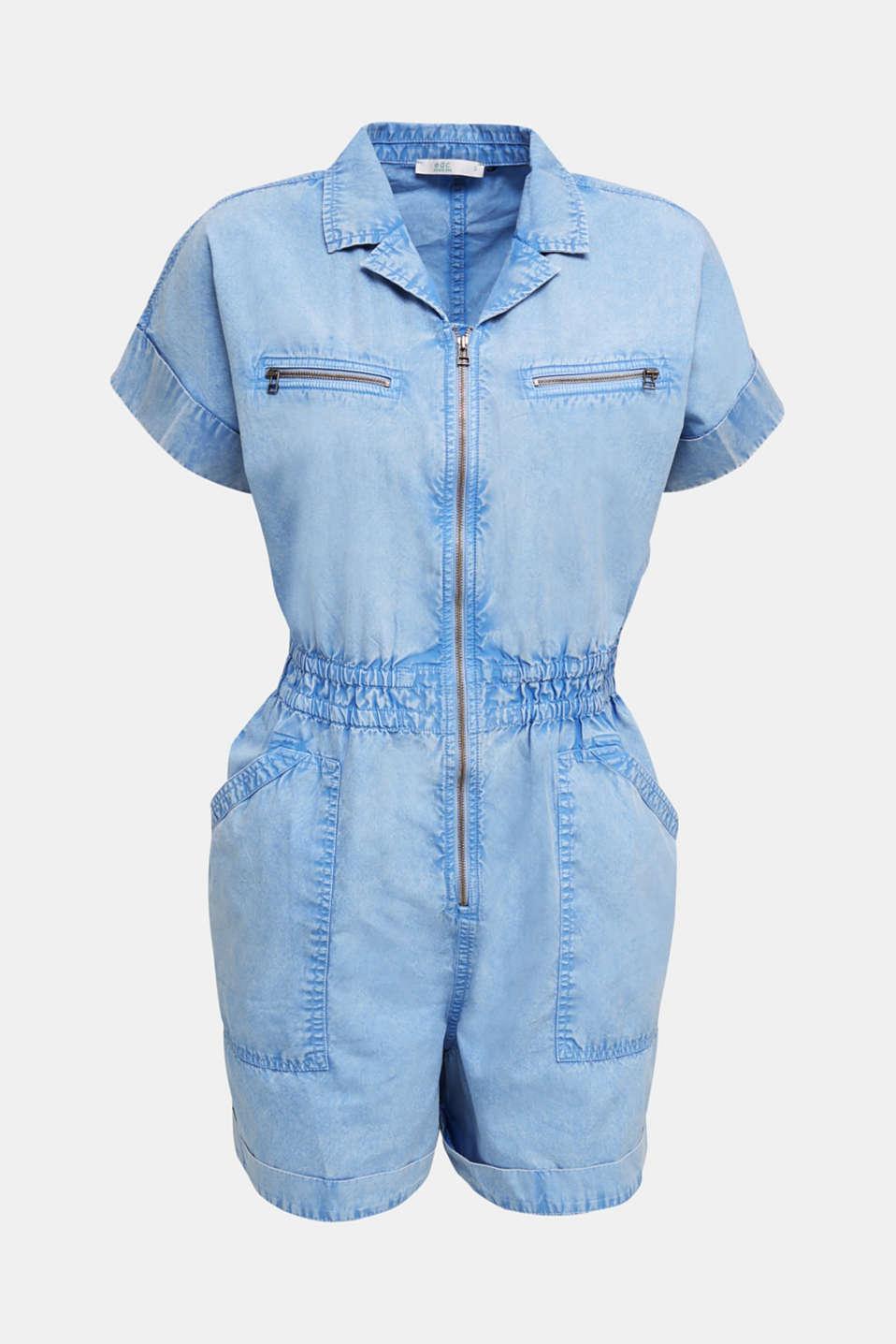 Jumpsuit, 100% organic cotton, LIGHT BLUE, detail image number 5