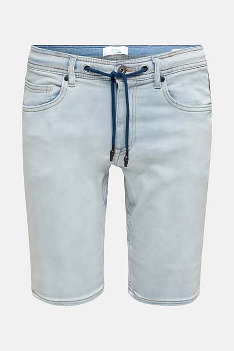 Tracksuit denim shorts with organic cotton