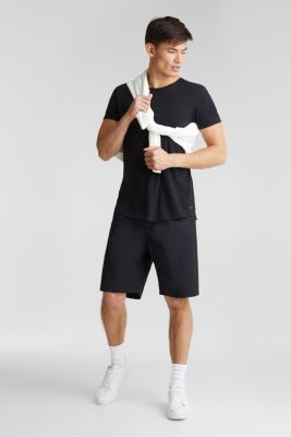 Shorts with organic cotton, BLACK, detail