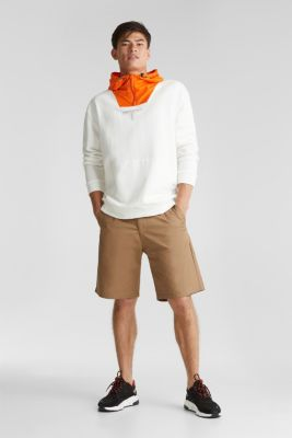 Shorts with organic cotton, CAMEL, detail