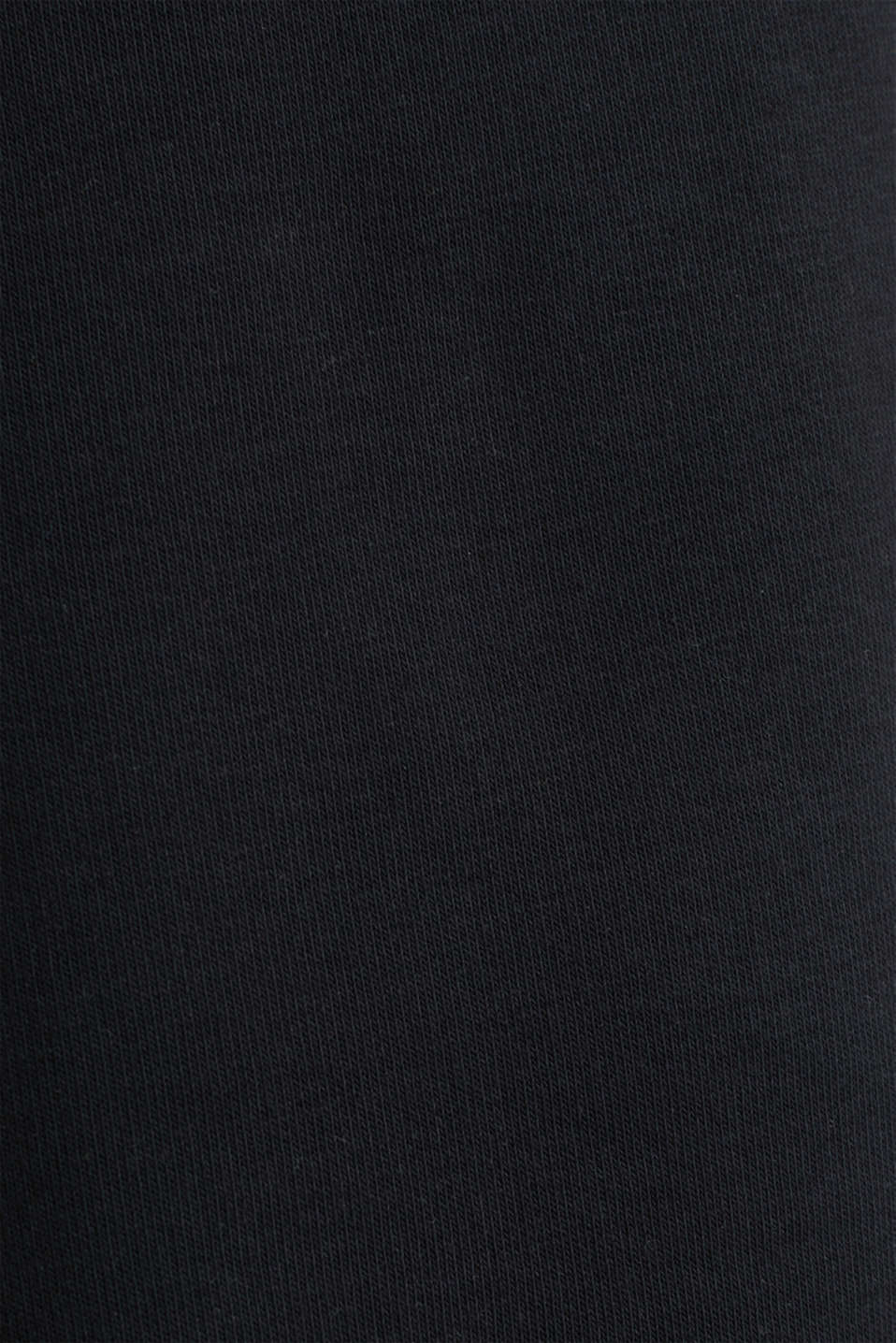#throwback sweatshirt fabric Bermudas, BLACK, detail image number 4