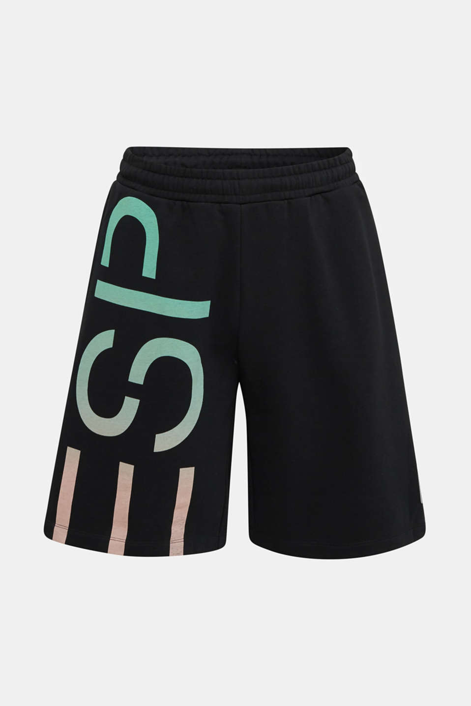 #throwback sweatshirt fabric Bermudas, BLACK, detail image number 5