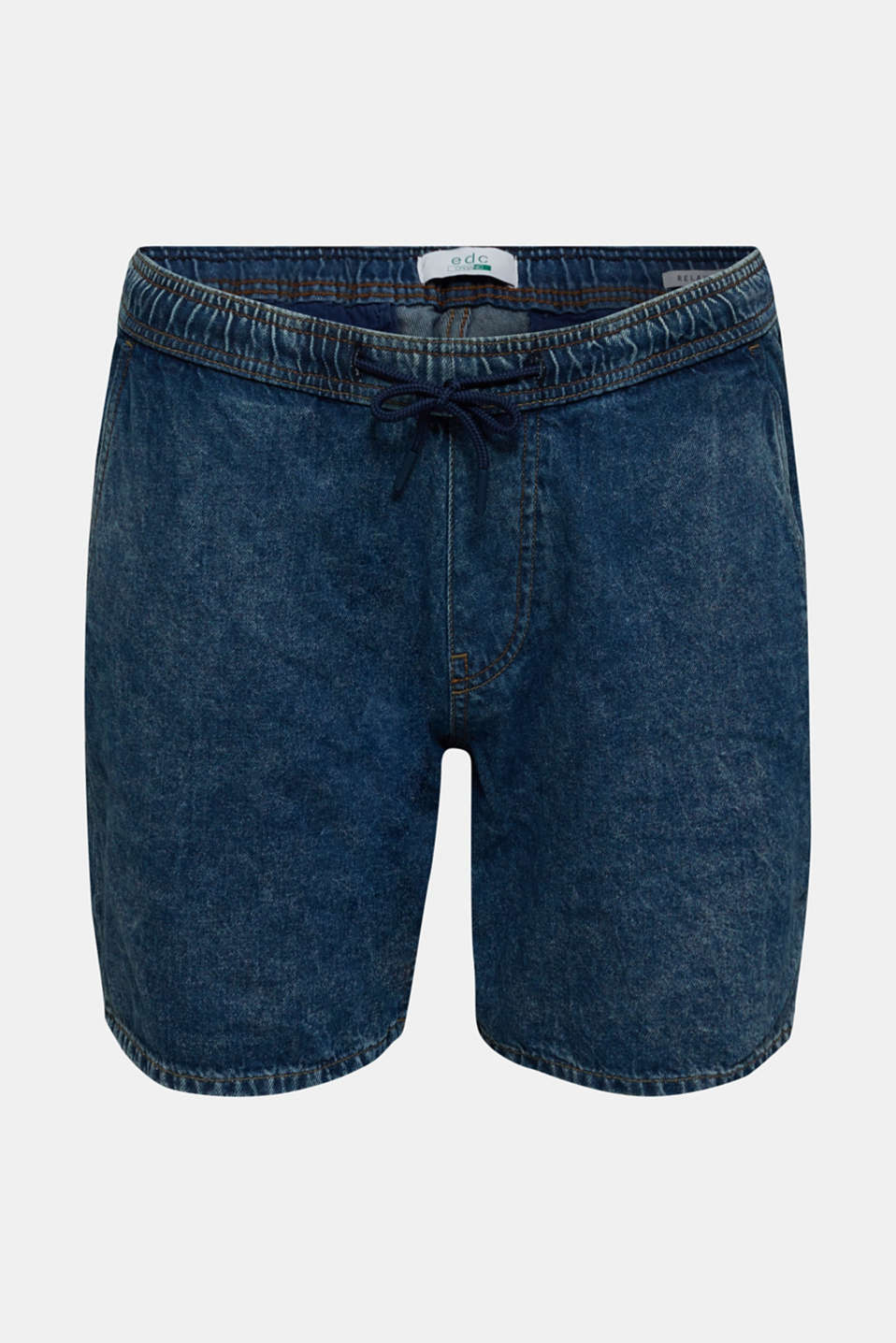 Denim shorts with organic cotton, BLUE MEDIUM WASH, detail image number 4