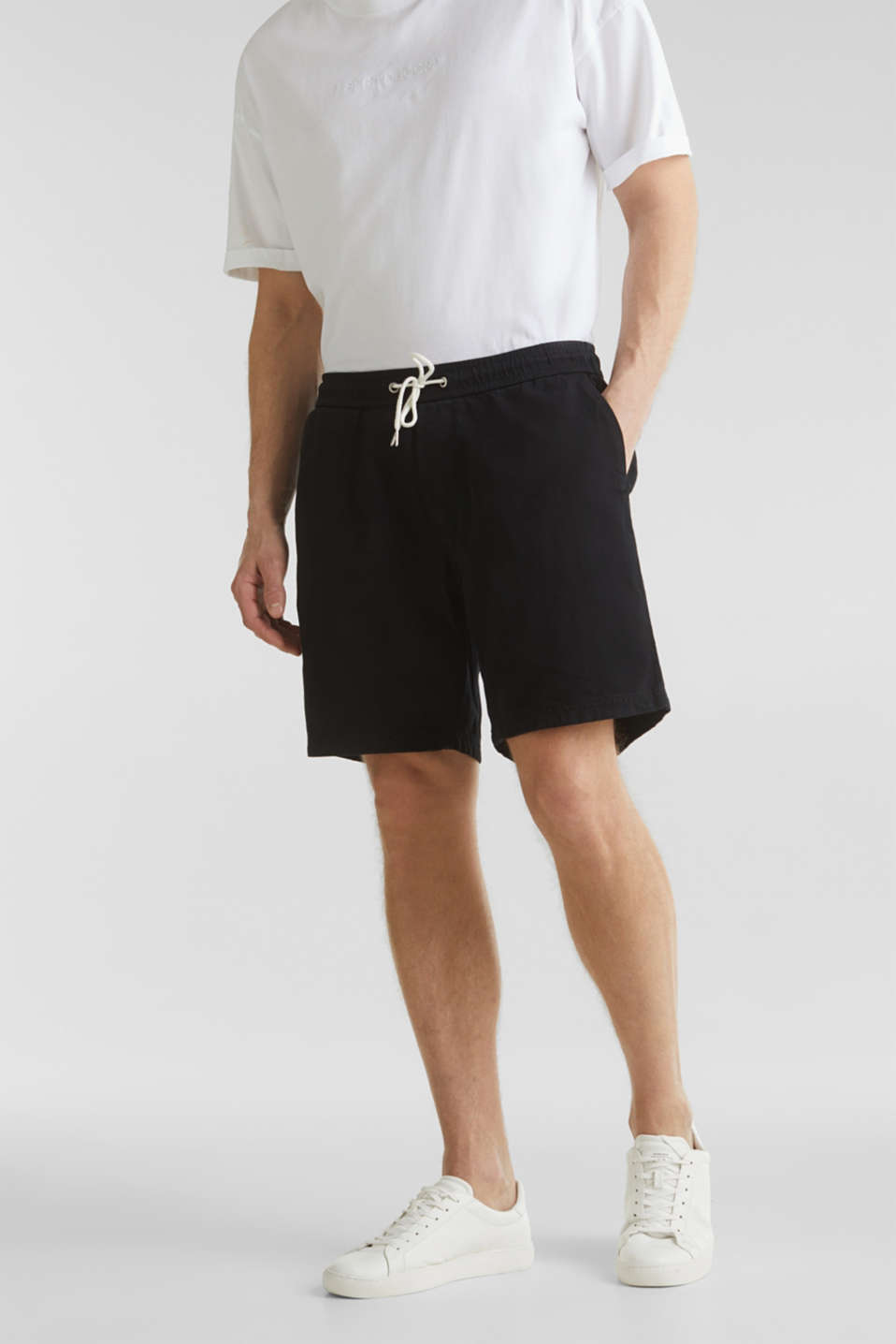 shorts in 100% cotton, BLACK, detail image number 0