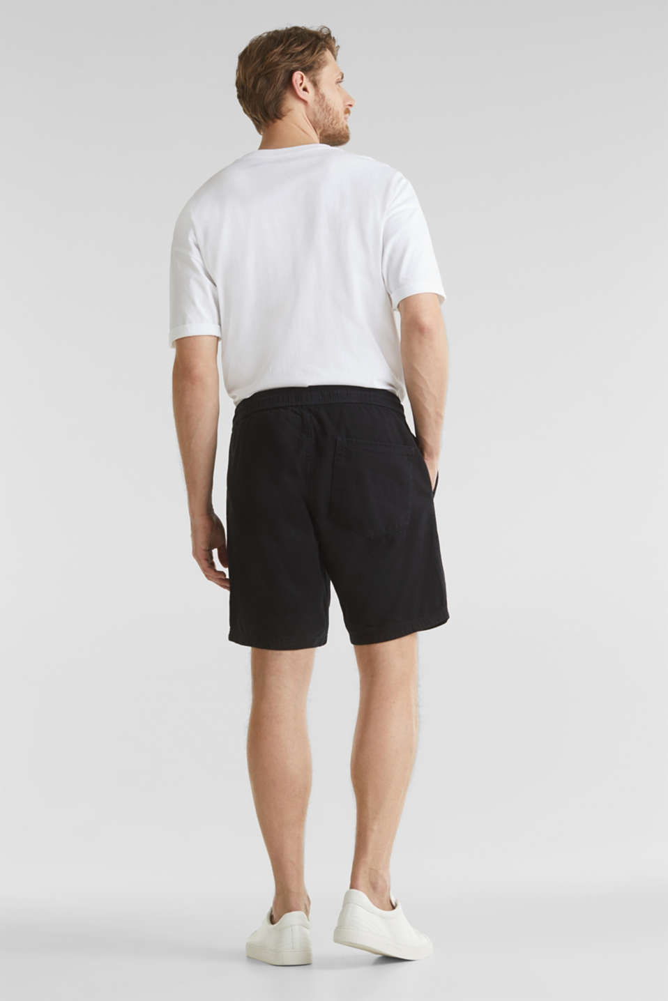 shorts in 100% cotton, BLACK, detail image number 3