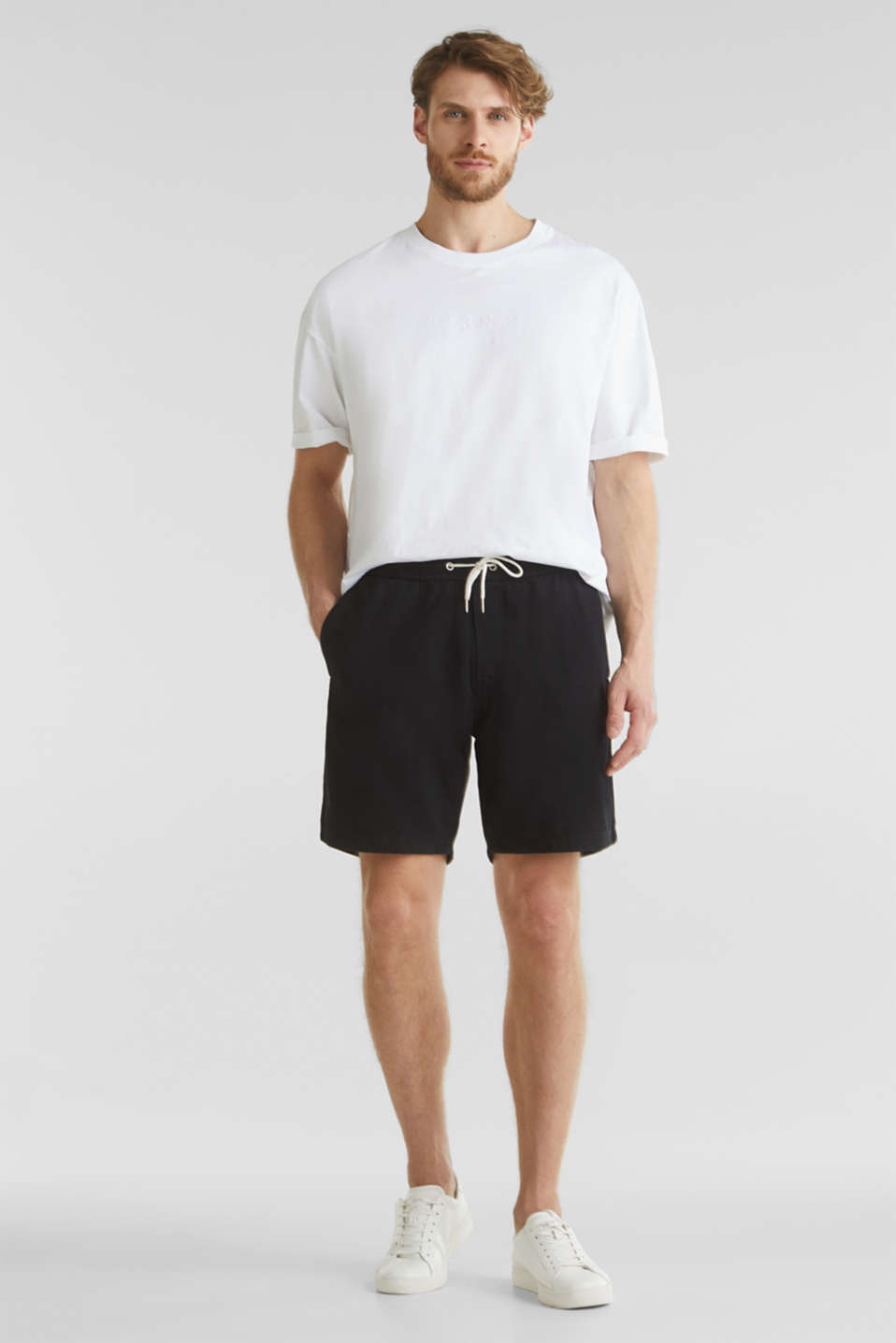 shorts in 100% cotton, BLACK, detail image number 6