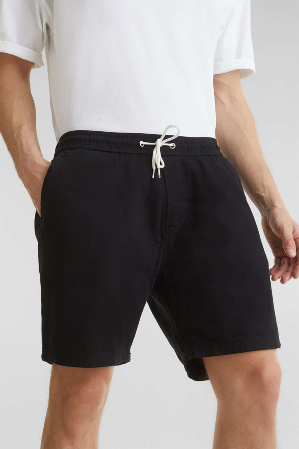shorts in 100% cotton, BLACK, detail image number 2