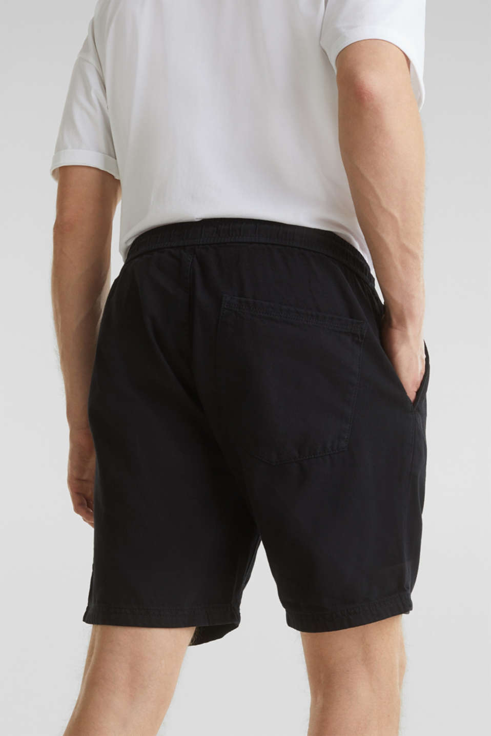 shorts in 100% cotton, BLACK, detail image number 5