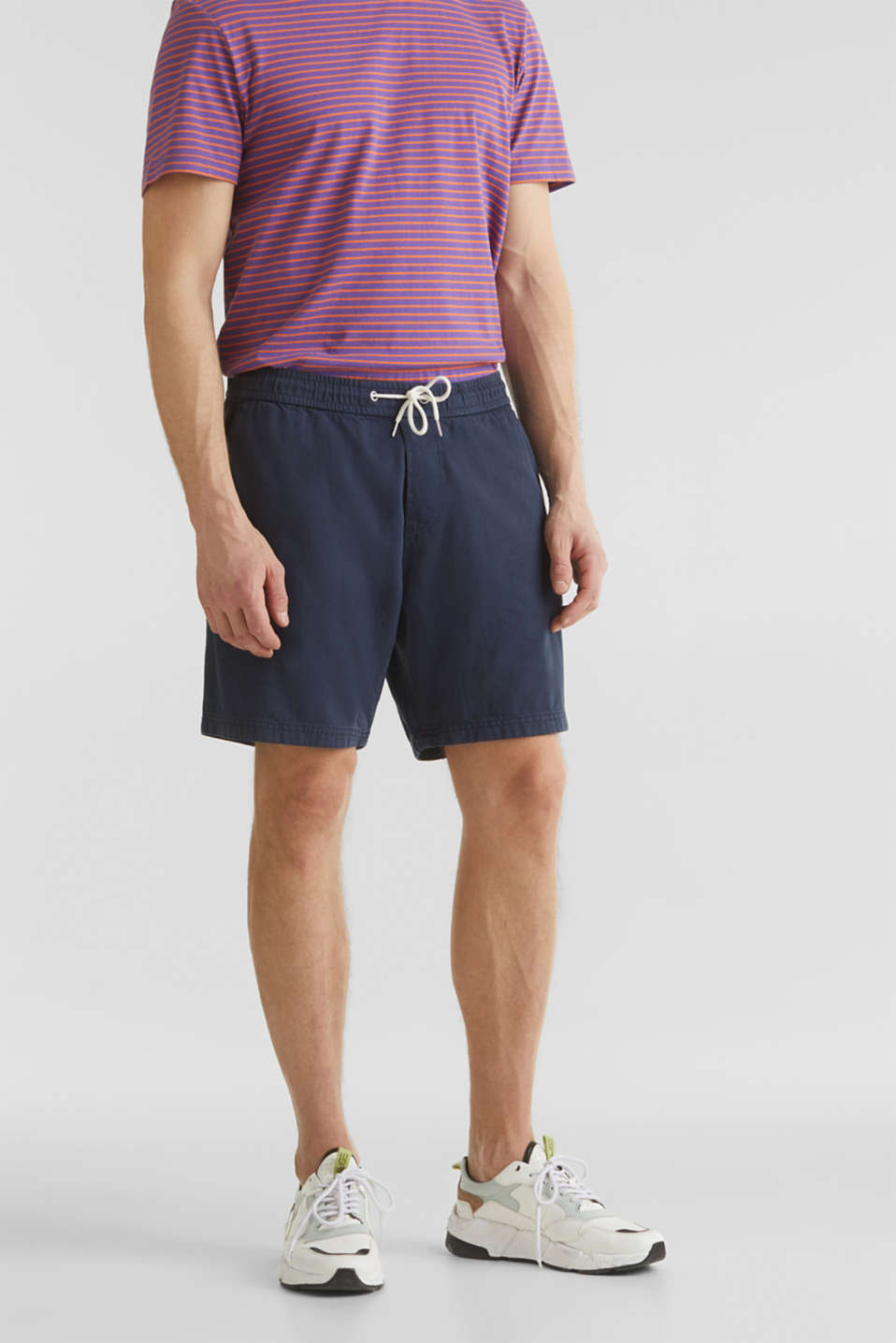 shorts in 100% cotton, DARK BLUE, detail image number 0
